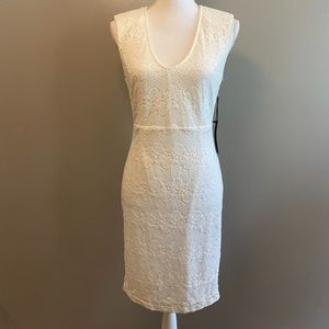 Forever 21 White Lace Bodycon V Neck NWT